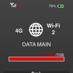 データ通信量の基準値を超過