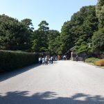 江戸城二の丸通路(門の跡と建物)
