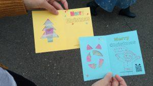 ステンドペーパーのクリスマスカード
