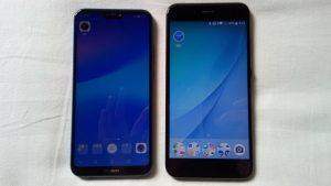 HUAWEI P20 Lite と Xiaomi Mi A1 比較