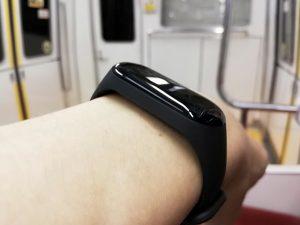 Xiaomi Mi Band 3 腕との接触部分