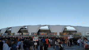 球技場の前の広場